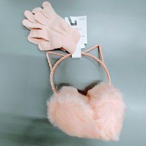 Earmuffs and gloves set
